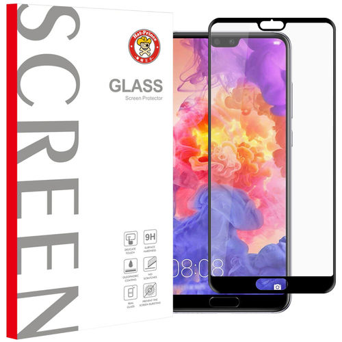 Full Coverage Tempered Glass Screen Protector - Huawei P20 Pro - Black